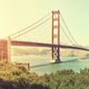 Panoramic picture of the Golden Gate Bridge at sunset, USA. - PhotoDune Item for Sale