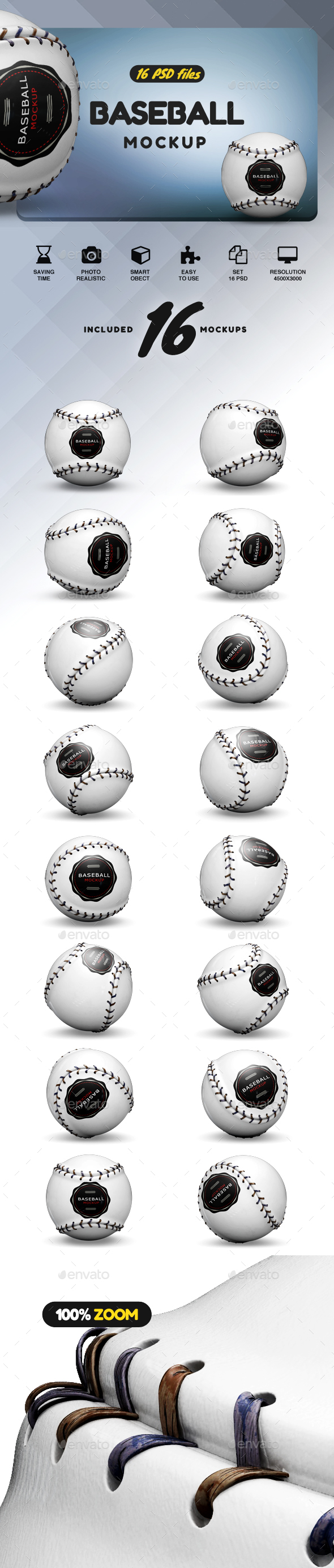 GraphicRiver Baseball Mockup 21119858
