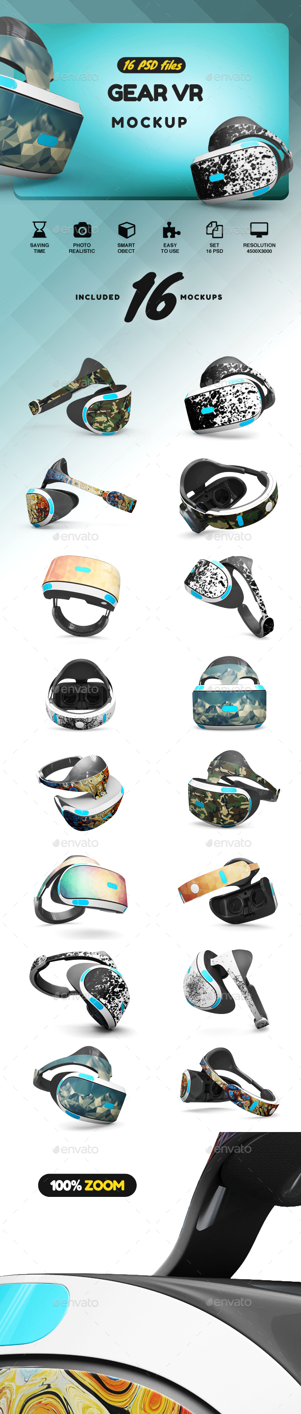Gear VR MockUp - Product Mock-Ups Graphics