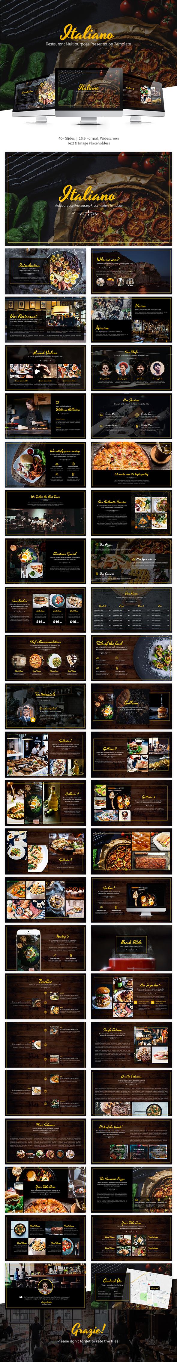 GraphicRiver Italiano Multipurpose Keynote Presentation Template 21120027