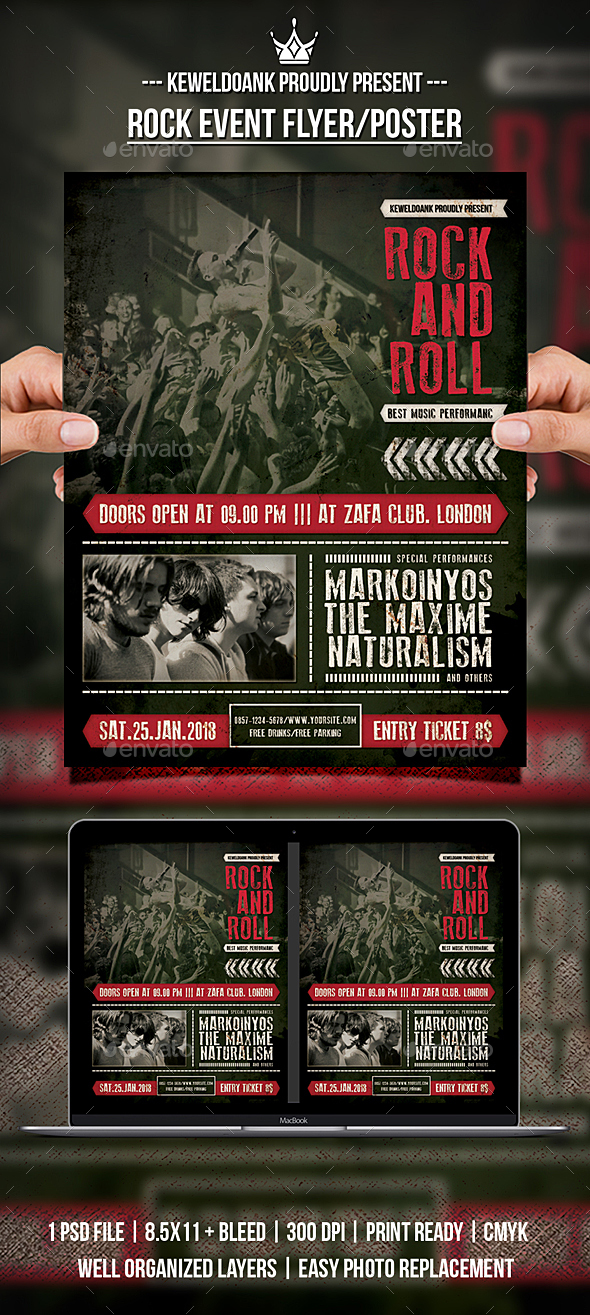 Rock Event Flyer / Poster - Events Flyers