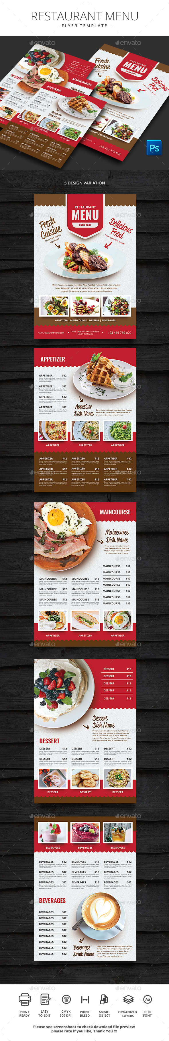 GraphicRiver Restaurant Menu 21120090