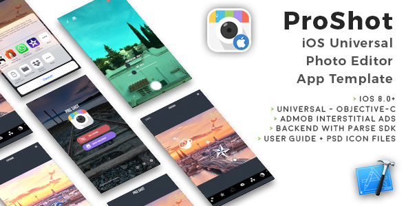 Pro Shot | iOS Universal Photo Editor App Template (Obj-C) - CodeCanyon Item for Sale