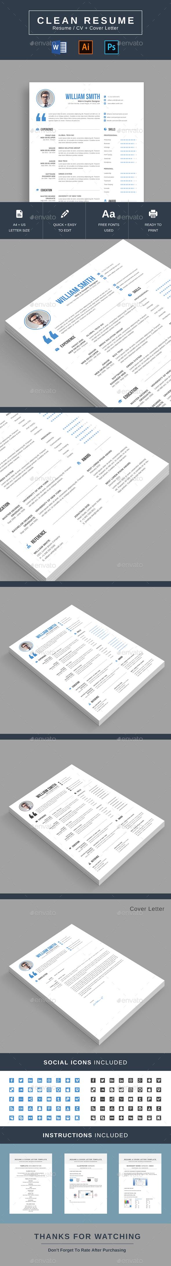 GraphicRiver Clean Resume 21120130