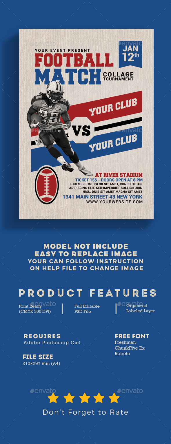 GraphicRiver American Football Match Flyer 21120133