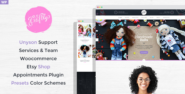 craftly - hobby and crafts wordpress theme (creative) Craftly – Hobby and Crafts WordPress Theme (Creative) preview image 01