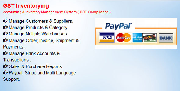 GST Inventorying  -  Accounting & Inventory Management System ( GST Compliance ) Free Download | Nulled