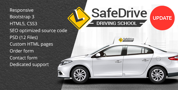 Image of Safe Drive - Driving School HTML Website Template
