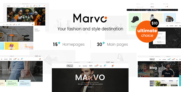 ThemeForest Marvo Stylish Fashion Shop PSD Templates 21120315