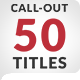 50 Stylish Call Out Titles - VideoHive Item for Sale