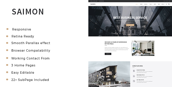 Saimon - Architecture & Interior HTML Template - Business Corporate
