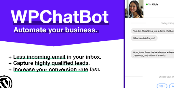 WP Chatbot - Wordpress Chatbot Builder - CodeCanyon Item for Sale