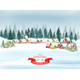 Christmas Holiday Background with Landscape