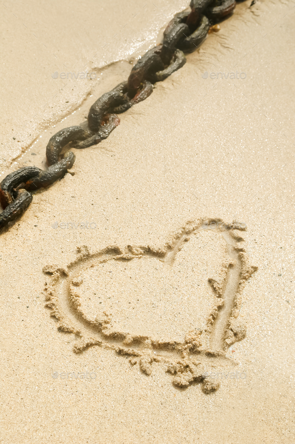 heart and chain - Stock Photo - Images
