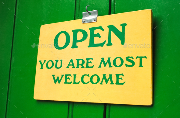 open sign - Stock Photo - Images