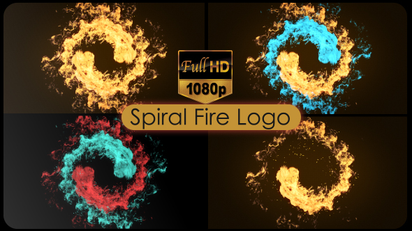 VideoHive Spiral Fire Logo 21072499