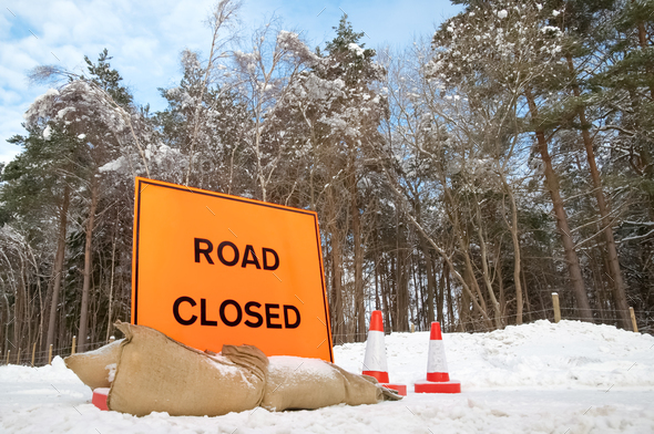 road closed - Stock Photo - Images
