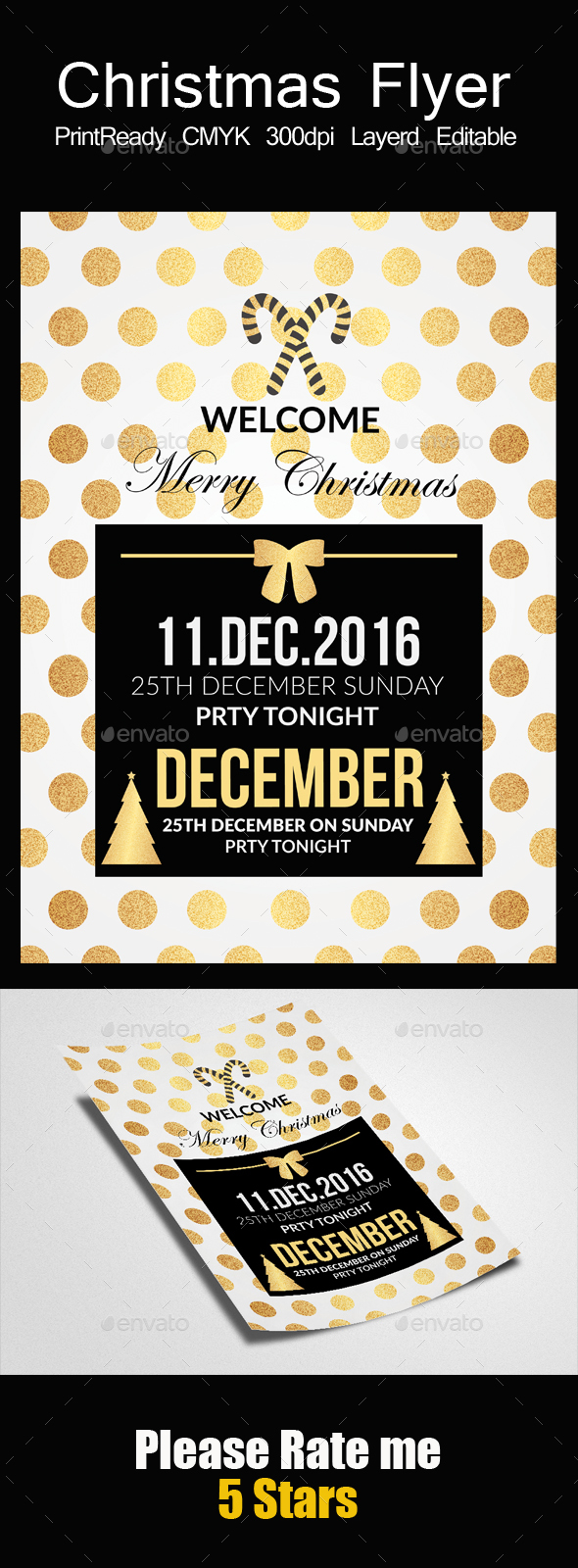 GraphicRiver Happy Christmas Flyer Template 21120827