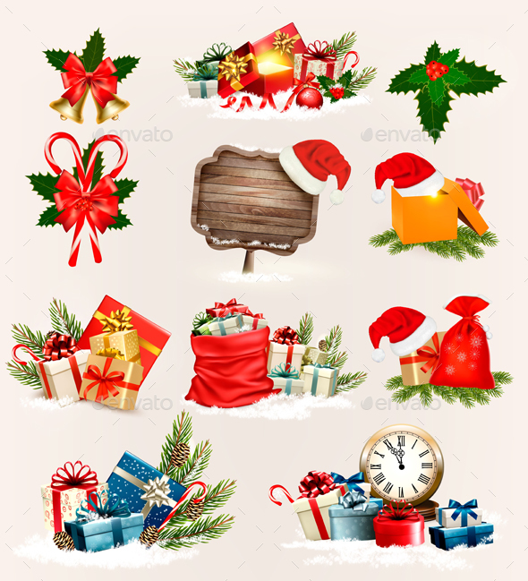 GraphicRiver Big Set of Christmas Icons and Objects 21120834