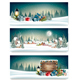 Three Holiday Christmas Banners - GraphicRiver Item for Sale