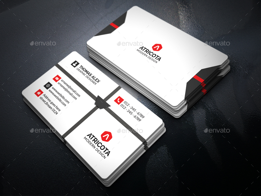 Corporate Business Card by aleepixel | GraphicRiver