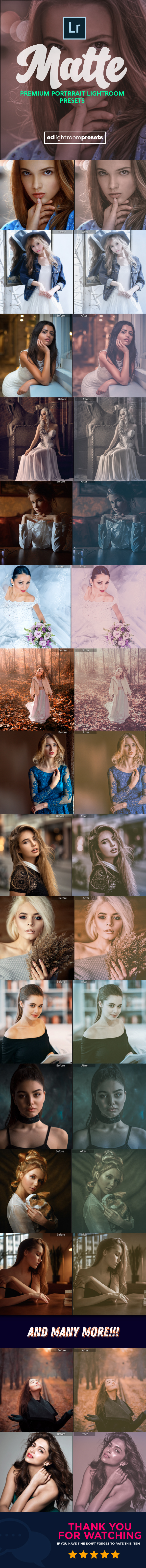 GraphicRiver 30 Premium Matte Portrait Lightroom Presets 21120858