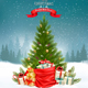 Christmas Holiday Background with Presents and Tree - GraphicRiver Item for Sale
