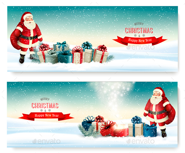 GraphicRiver Two Holiday Christmas Banners 21120865