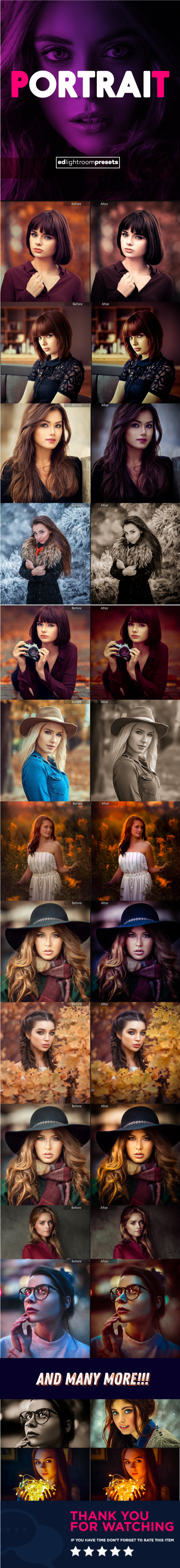 25 Premium Portraits Lightroom presets - Portrait Lightroom Presets