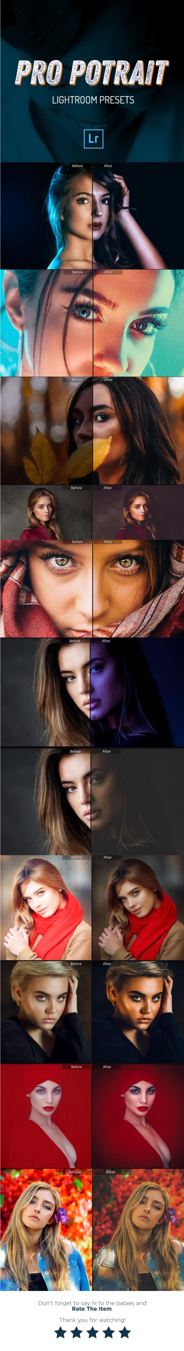 14 Pro Portrait Lightroom Presets - Portrait Lightroom Presets