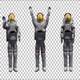 Astronaut Waving (3-Pack) - VideoHive Item for Sale
