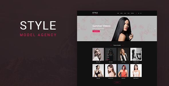 Style - Directory Template for Models and Actors - Fashion Retail