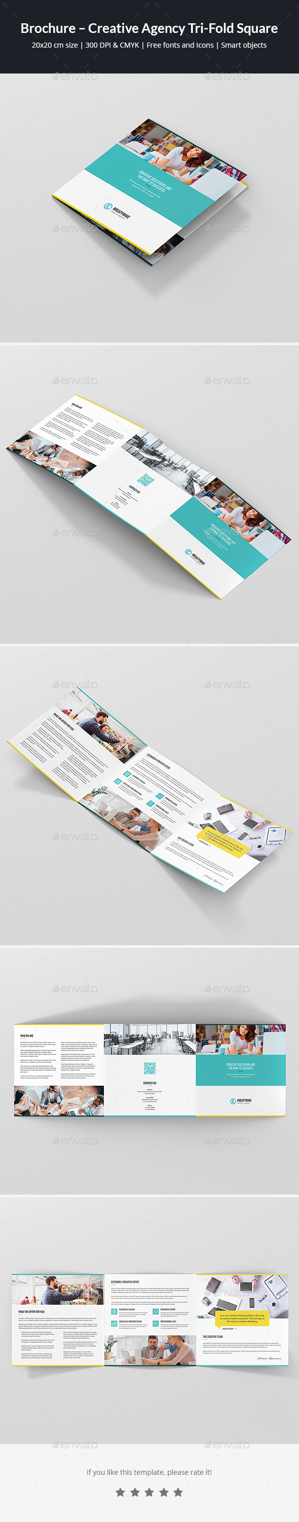 GraphicRiver Brochure Creative Agency Tri-Fold Square 21120962