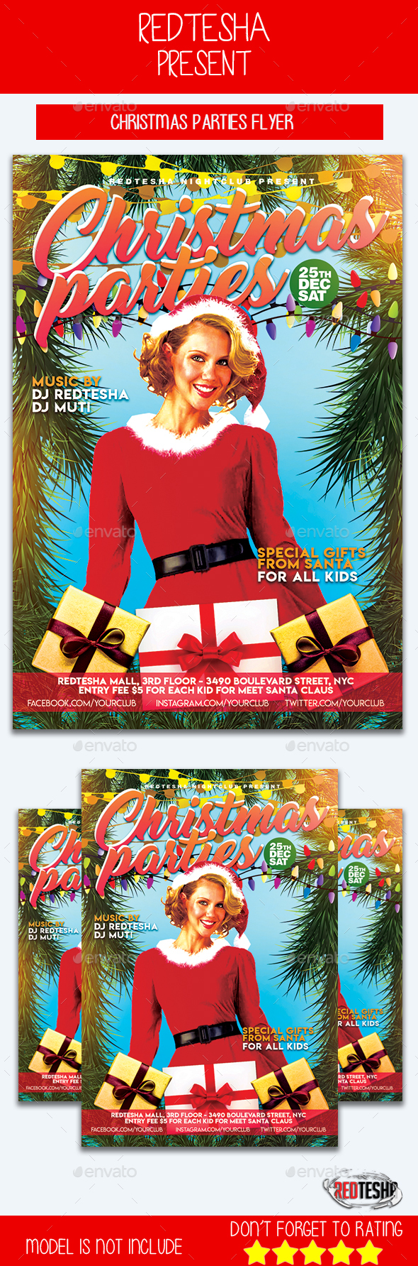 Christmas Parties Flyer - Events Flyers