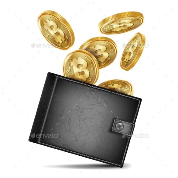GraphicRiver Bitcoin Wallet Vector 21120997