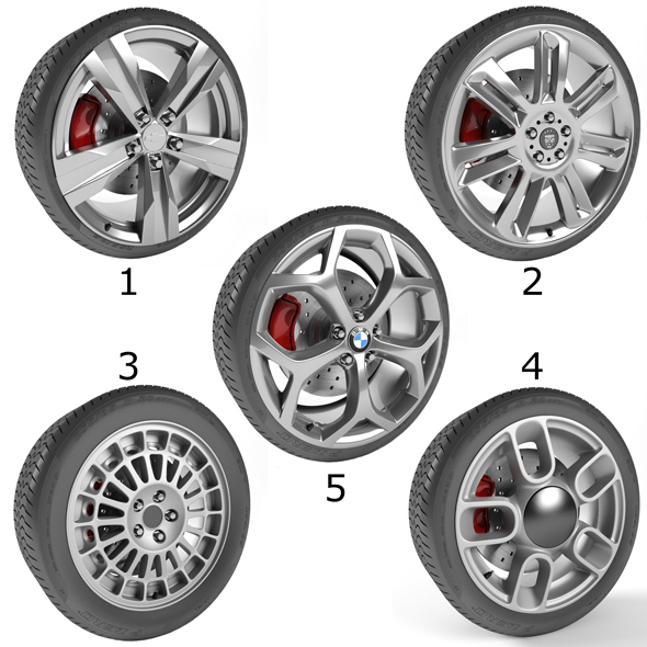 3DOcean Wheels Collection 2 5 Models 21121004