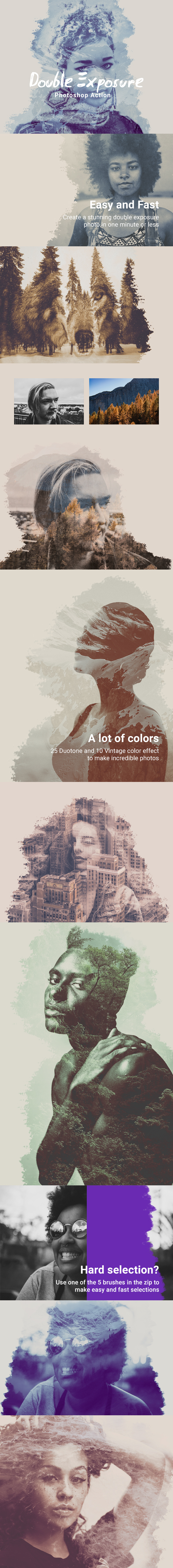 GraphicRiver Double Exposure Photoshop Action 21121015