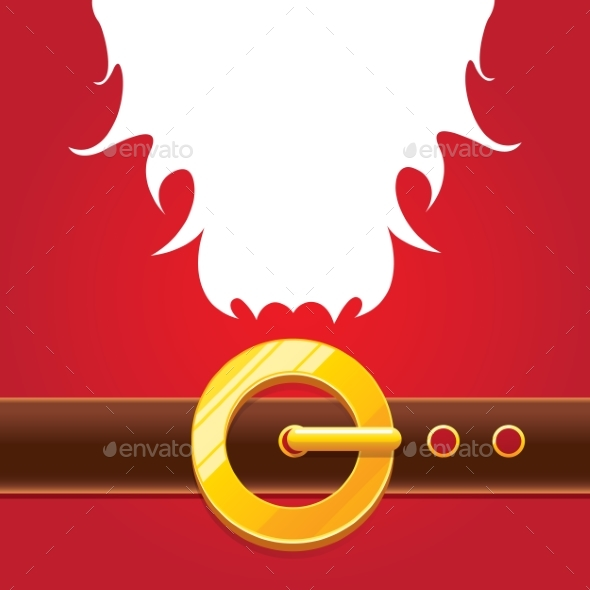 GraphicRiver Vector Merry Christmas Classic Red Cartoon 21121022