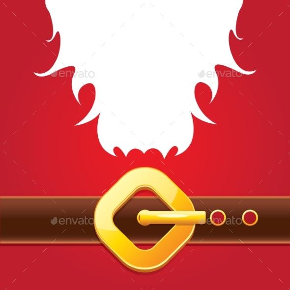 Vector Merry Christmas Classic Red Cartoon - Christmas Seasons/Holidays