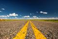 Empty open highway in Wyoming - PhotoDune Item for Sale