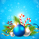 Decorations on a Blue Background - GraphicRiver Item for Sale