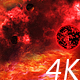 Flying Through Abstract Red Space Nebula to the Big Red Star and Planets - VideoHive Item for Sale
