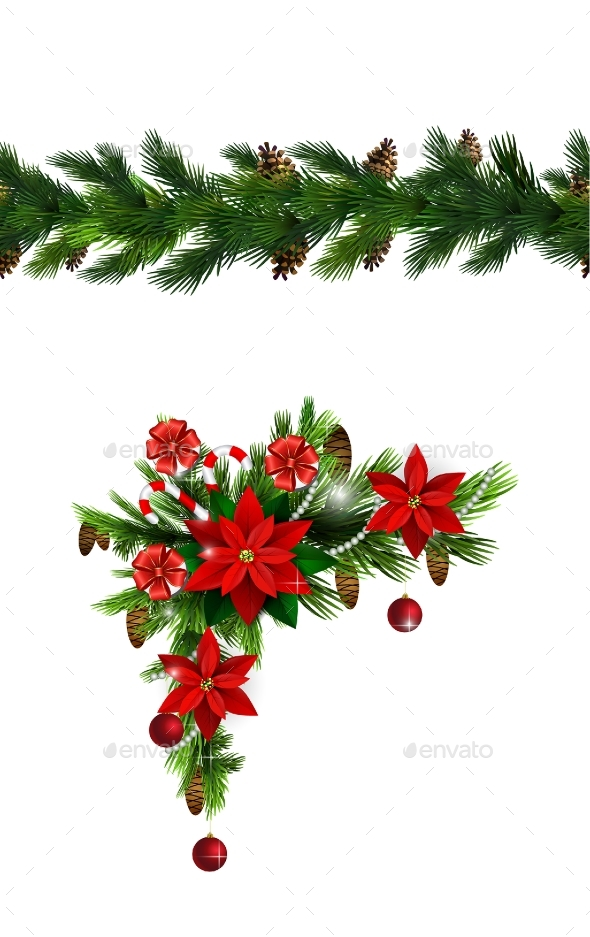 Vector Christmas Border - Christmas Seasons/Holidays