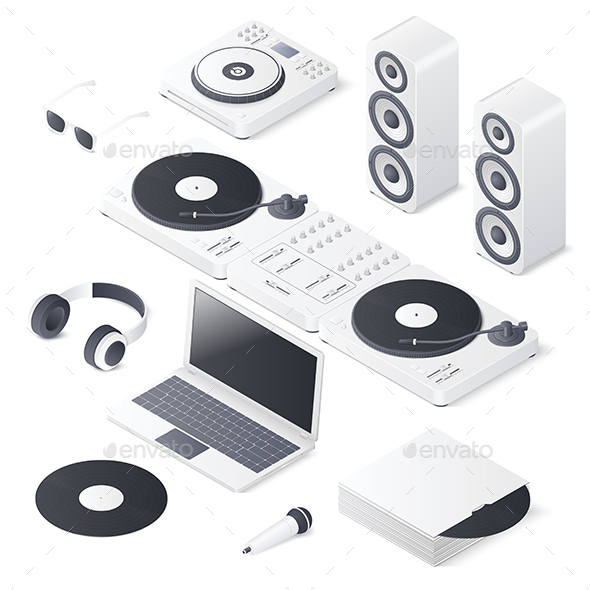 Set of DJ Devices - Computers Technology