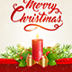 Christmas Background with Red Candle - GraphicRiver Item for Sale
