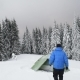 Green Tent in Winter Mountains - VideoHive Item for Sale
