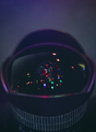 Camera Lens Christmas Light Reflection - PhotoDune Item for Sale