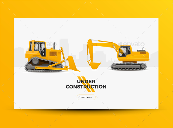 Under Construction Website Web Banner - Industries Business