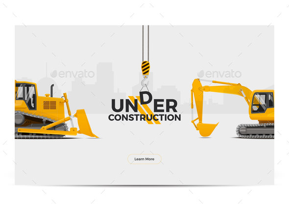 Under Construction Banner Poster - Web Technology