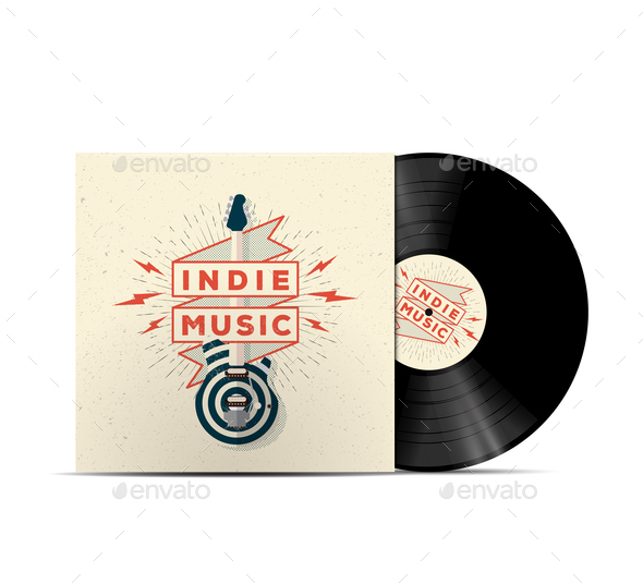 Indie Music Vinyl Disc - Miscellaneous Vectors
